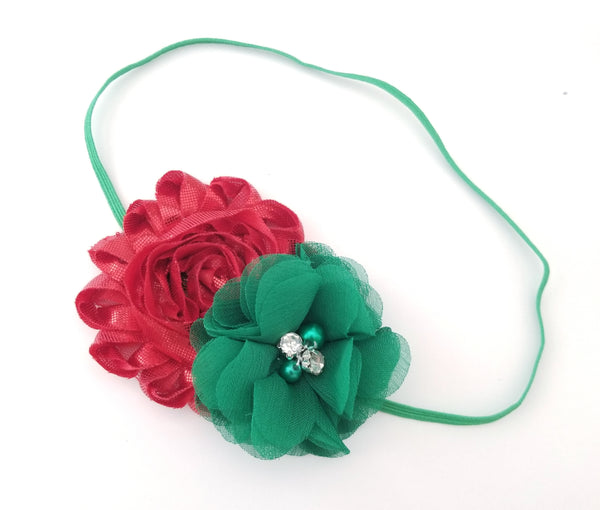 Red & Green Christmas Headband