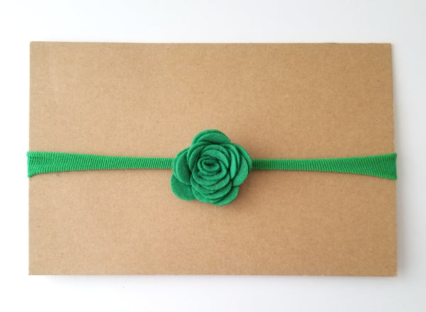 Green Nylon Headband - St. Patrick's Day Headband