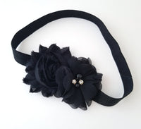 Black Shabby Chic Headband