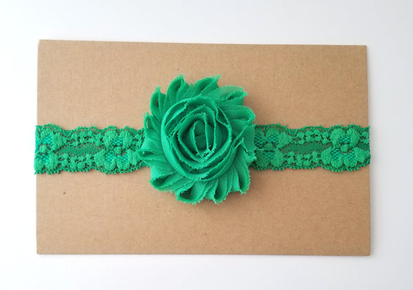 Green Lace Headband