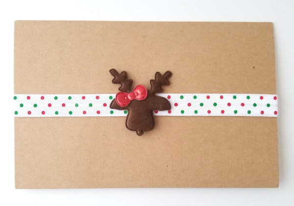 Polka Dot Christmas Reindeer Headband