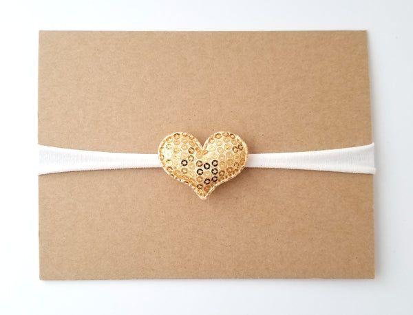 Gold and Ivory Valentine's Day Headband