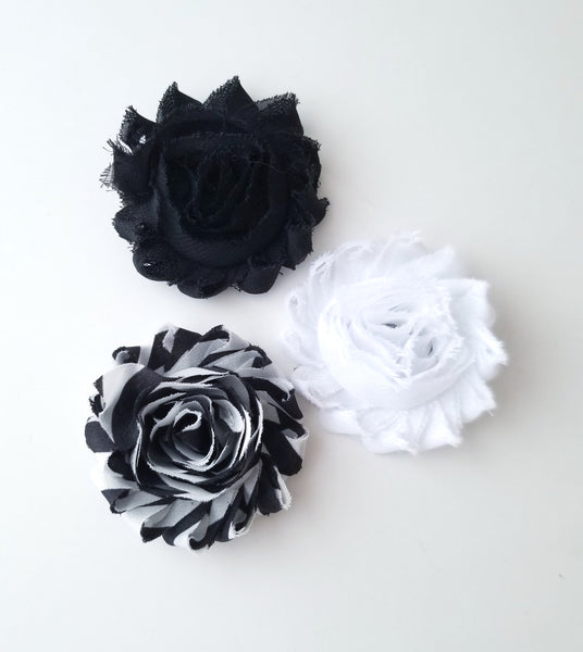 Set of 3 Chiffon Flower Hair Clips