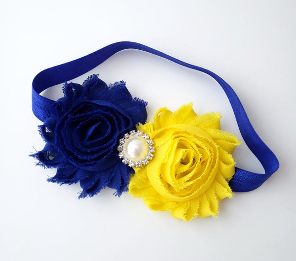 Royal Blue & Yellow Headband