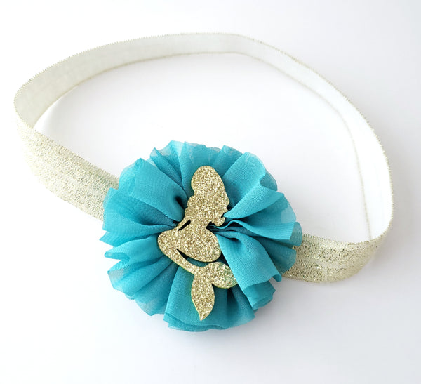 Teal & Gold Mermaid Headband