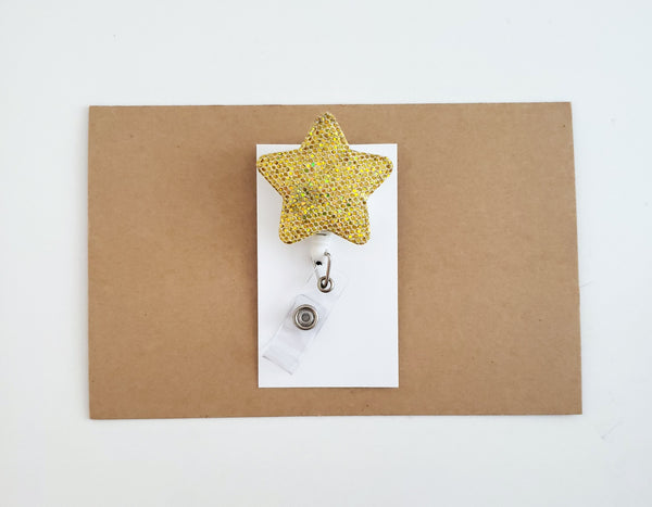 Gold Star Badge Reel - Nurse Badge Reel