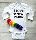 I Love My Moms Baby Bodysuit or Tee