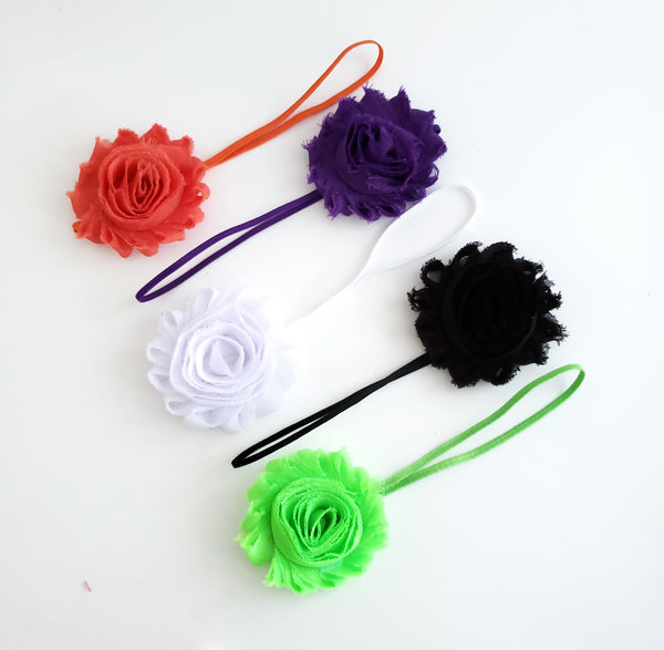 Set of 5 Skinny Elastic Headbands in Halloween Colors