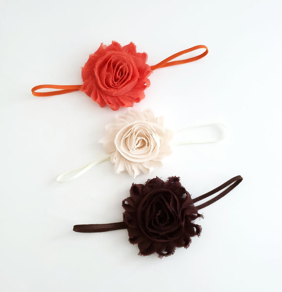Set of 3 Fall Baby Headbands or Hair Clips