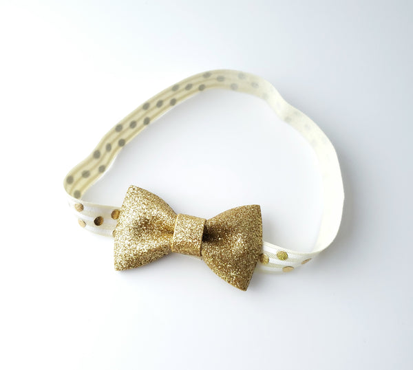 Gold & Ivory 1st Birthday Headband