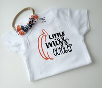 Little Miss October Bodysuit