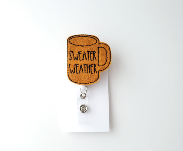 Sweater Weather Badge Reel