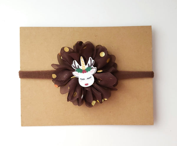 Brown Reindeer Headband