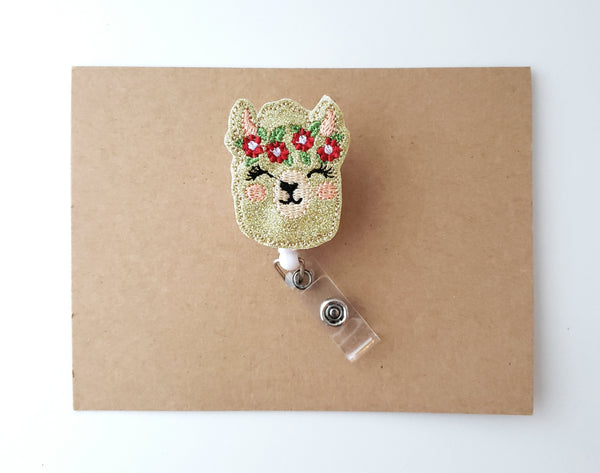 Holiday Llama Badge Reel
