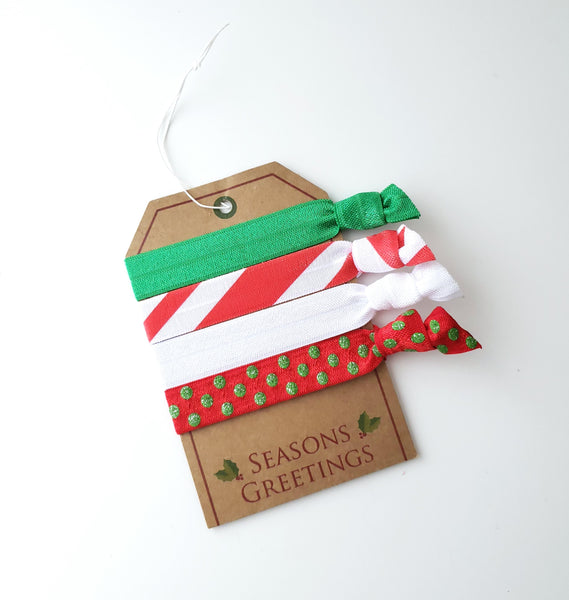 Unique Holiday Gift Tag - Yoga Hair Ties