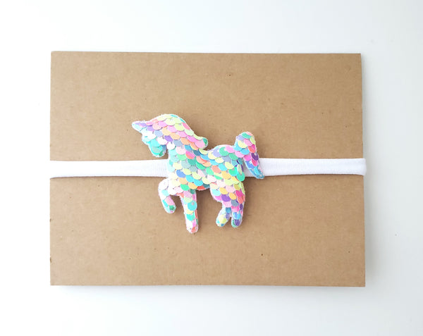 Pastel Rainbow Unicorn Headband