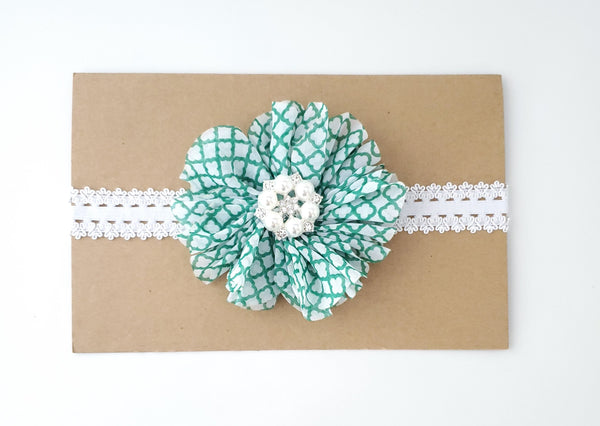 Green and White St. Patrick's Day Headband