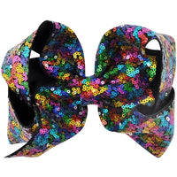 "Xtra Large 7"" Rainbow Sequin Bow"
