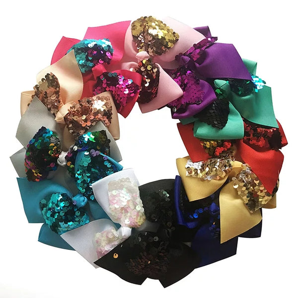 Reversible Sequin Hair Bows, Grab Bag of 3