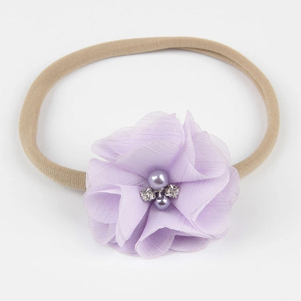 Lavender and Tan Nylon Headband - LoliBean