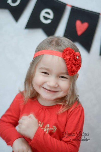 Red Heart Headband, Valentine's Day Headband - LoliBean
