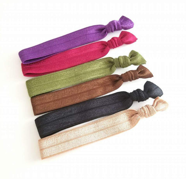 Autum Hair Tie Mix, Set of 6 Hair Ties - LoliBean