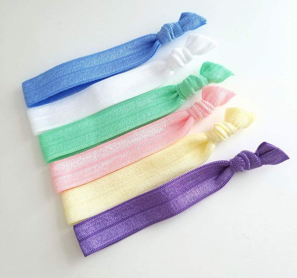 Yoga Hair Ties, Spring Hair Tie Set - LoliBean