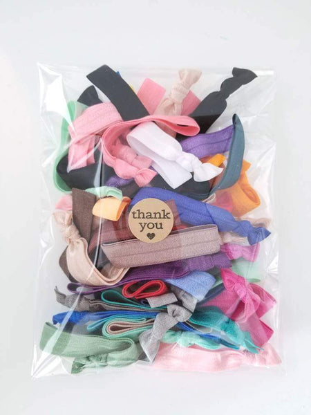 Hair Tie Grab Bag 25,50,or 100pc - LoliBean