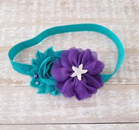 Teal and Purple Mermaid Headband - LoliBean