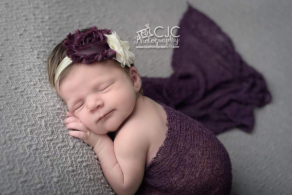 Plum & Ivory Autumn Headband - LoliBean