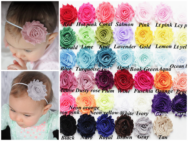 Skinny Elastic Headbands, Your choice of Color.