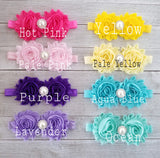 Shabby Flower Headbands, You Pick Color - LoliBean