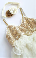 Gold and Ivory Birthday Dress - LoliBean