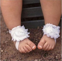 White Barefoot Baby Sandals