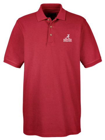 Adapted Athletics Men's Classic Piqué Golf Shirt - Crimson