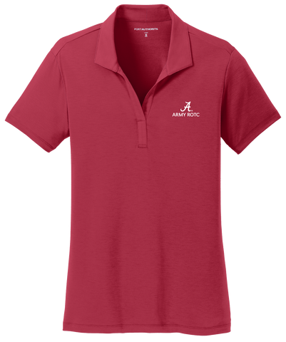Army ROTC Women's Performance Golf Shirt - Crimson