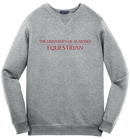 Alabama Equestrian Sweat Shirt - Vintage Heather
