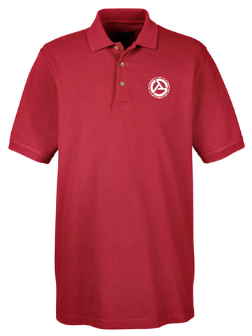 Alabama Astrobotics Men's Classic Piqué Golf Shirt - Crimson