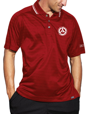 Alabama Astrobotics Men's Ambassador Golf Shirt - Deep Red