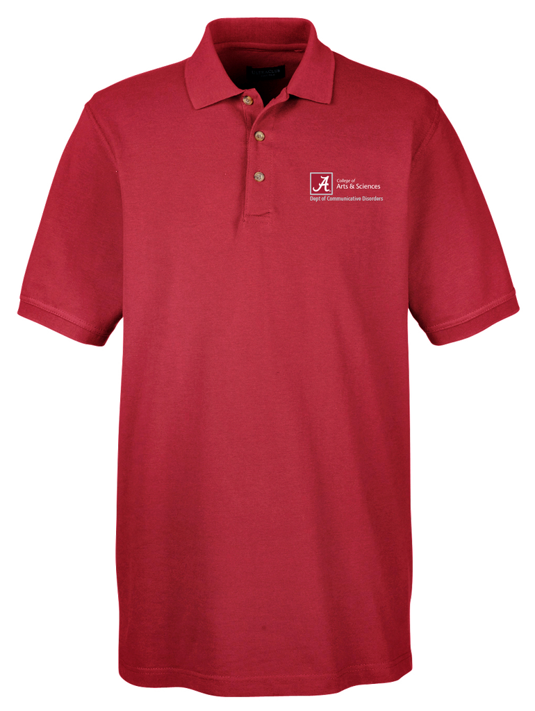 Dept. of Communicative Disorders Men's Classic Piqué Golf Shirt - Crimson