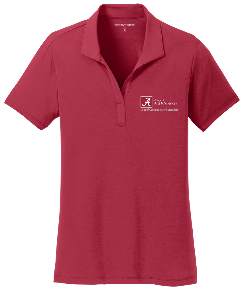 Dept. of Communicative Disorders Women's Performance Golf Shirt - Crimson