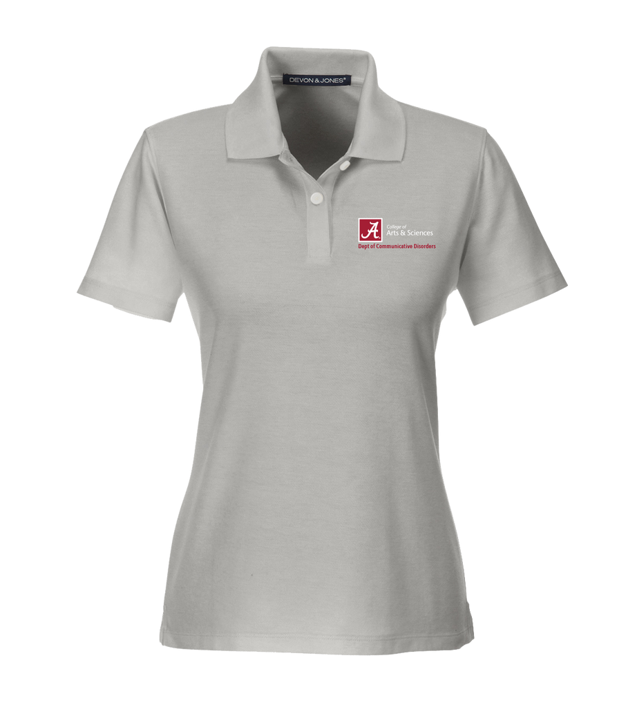 Dept. of Communicative Disorders Women's Performance Golf Shirt - Silver