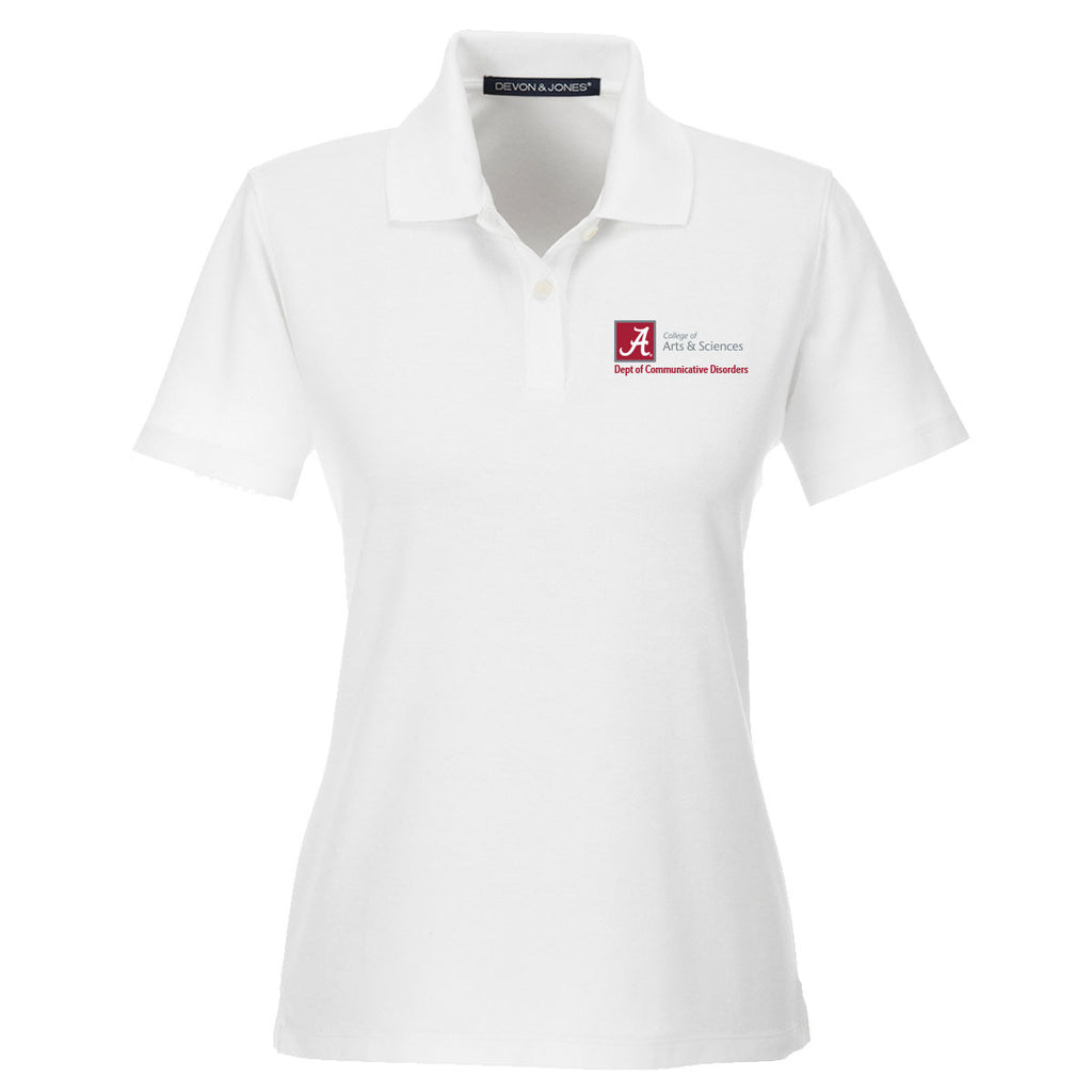 Dept. of Communicative Disorders Women's Performance Golf Shirt - White