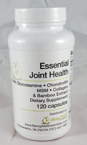 Essential Joint Health with Glucosamine, Condroitin, MSM, Collagen & Bamboo Extract 120 capsules