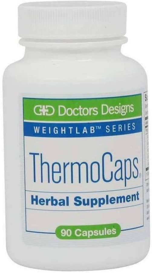 Doctors Designs ThermoCaps - Increases Metabolism - Burns Fat, Guarana, Bitter Orange, Nutmeg, Ginkgo, Asian Ginseng - 90 Capsules