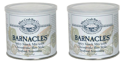 TWIN PACK - Blue Crab Bay Co. Barnacles - Gourmet Virginia Peanut Snack Mix - 2x 8oz. tins