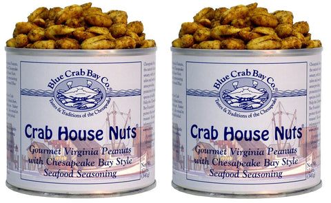 Blue Crab Bay Co Gourmet Virginia Peanuts - Twin Packs - 2x 12oz. tins