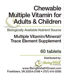 CHEWABLE MULTIPLE VITAMIN (60 Tablets) - FREE US SHIPPING