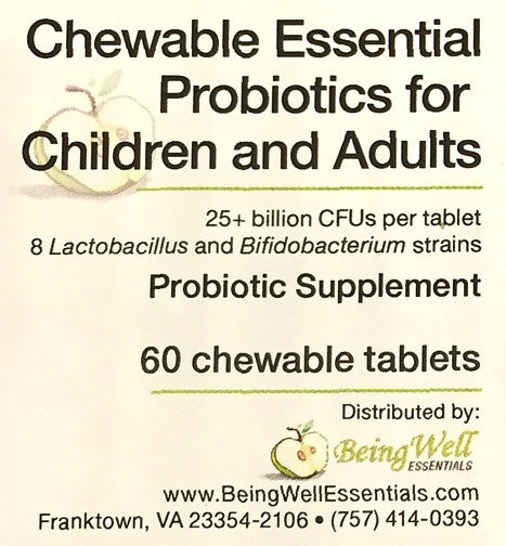 NEW PRODUCT! - CHEWABLE ESSENTIAL PROBiotics - 60 Tablets