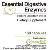 Essential Digestive Enzymes - Supports Healthy Breakdown of Foods - 180 capsules